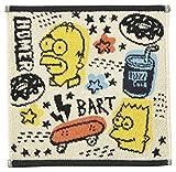 丸眞 ハンドタオル The Simpsons ザ・シンプソンズ 25×25cm ラクガキアート 綿100% 4935001000