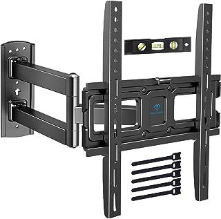 Support Murale TV Inclinable Pivot et Rotation - Mouvement Complet avec Bras Articulé VESA 400x400mm pour TV à écran Plat ...