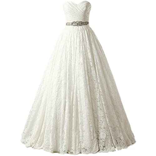 cc32d5e31e2 SOLOVEDRESS Women s Ball Gown Lace Princess Wedding Dress 2017 Sash Beaded  Bridal Evening Gown Champagne