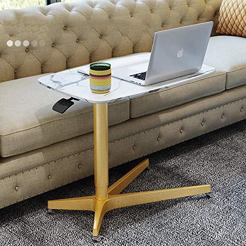 ZJZ Escritorio para computadora, Mesa con Bandeja para computadora portátil, Altura Ajustable, Escritorio para Juegos, Estaciones de Trabajo para computadora, escritorios Plegables