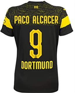 LISIMKE Soccer Team Dortmund Away Soccer Paco Alcáce#9 Soccer Mens Replica&Shorts Kid Youth Replica Jersey Kit