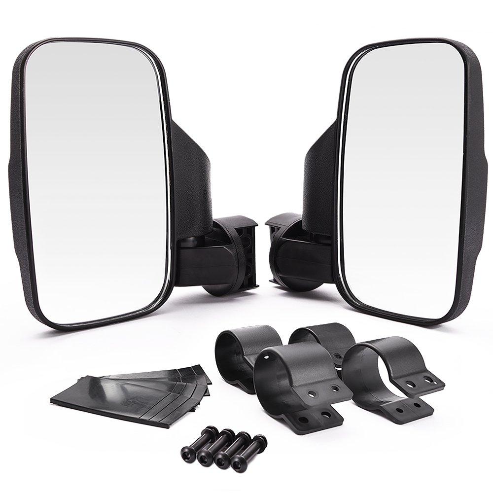 DEDC Adjustable Pair UTV Side Mirror Set 1.5 1.75 or 2inch Roll Bar Cage UTV