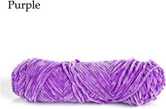 Ovillo de lana de terciopelo de 100 g, mezcla de poliéster y algodón, para tejer bufandas, 4 mm, 5 mm, Púrpura, the size, 1