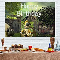 5x3ft子供背景漫画犬少年少女お誕生日おめでとうパーティー写真背景印刷プロの屋内写真