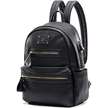 miss fong Backpack Purse For Women, Backpack For Women, Womens Backpack, Laptop Backpack with USB Charger, Fits 13 Inch, 14 Inch Laptop (Black)