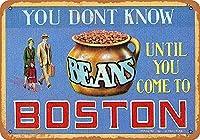 ボストン豆 金属板ブリキ看板警告サイン注意サイン表示パネル情報サイン金属安全サイン