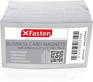 XFasten Self Adhesive Business Card Magnets, Pack of 100