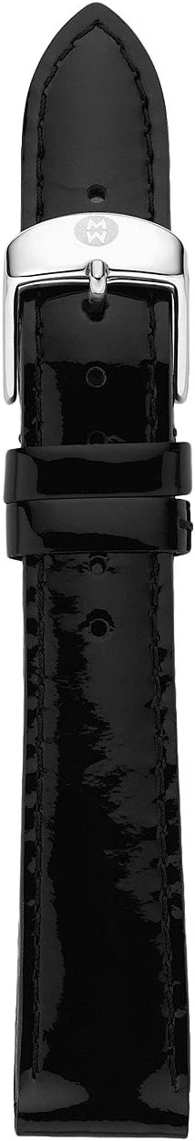 Michele - 18mm Black Patent Leather Strap
