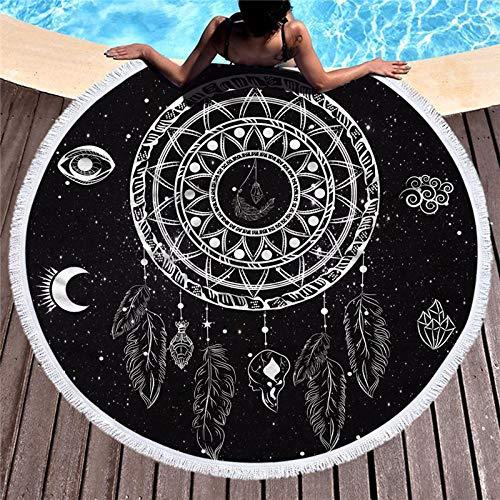 AGAGRG Redonda Toalla Playa,Starry Dream Catcher Mandala Printing Microfibre Beach Towel-Extra Large Quick Dry Lightweigh Sand-Esta Toalla De Viaje Beach Swimming Gym Yoga Cruise