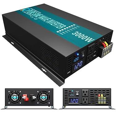 Reliable RBP-3000S-LED 3000w Pure Sine Wave Solar Power Inverter 24v 120v 60hz With LED Display (Black)