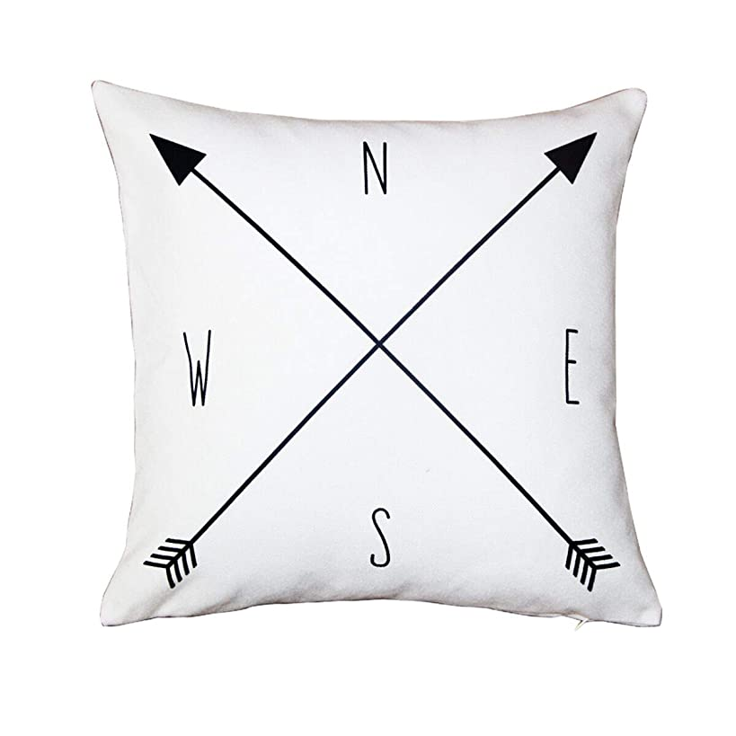 BreezyLife Arrow Throw Pillow Cover Nautical Decorative Pillow Case Compass Accent Pillow for Sofa Couch Farmhouse Cottage Outdoor