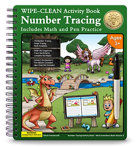 Number Tracing Workbook for Preschoolers and Kids $10.49 (30% OFF)