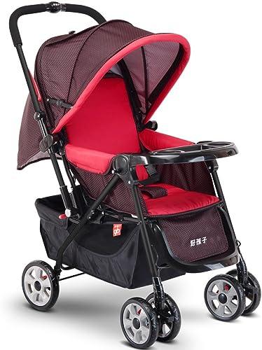 Kinderwagen Baby-Trolley kann leicht sein, um im ganzen Push-ZWeißWege-Baby Trolley zu sitzen Einfach zu verwenden (Farbe   rot)