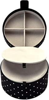 Kate Spade New York Women's Travel Jewelry Organizer for Rings/Earrings/Necklaces, Dots (Black/White)
