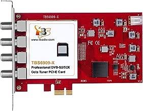 TBS6909X DVB-S/ S2/ S2X 8 Tuner PCI Express Digital Satellite TV Card for Live TV