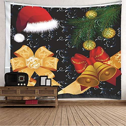 Tapiz de Navidad para colgar en la pared, colcha de mesa, gorro de Navidad, tapiz de serpiente para dormitorio de 192 x 192 cm