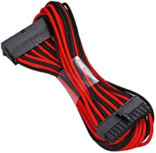 Antec ATX 24 pin Sleeved Cable Extension 50cm Black/Red
