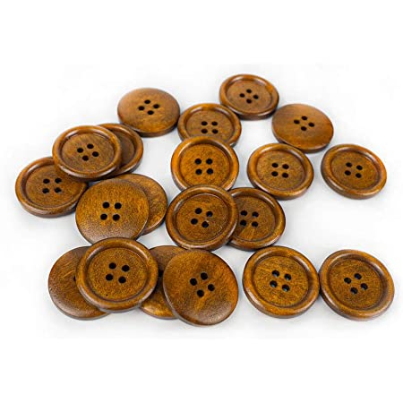 Cosplay Buttons Brown Faux Fur Fabric Buttons Whimsical 1 Dozen  1 Inch  25 mm Sewing Button