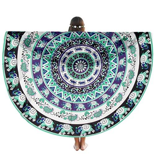 Vovotrade Serviette Ronde Plage Piscine Maison Douche Serviette Couverture Table Tissu Tapis de Yoga (#15)