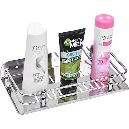 Planet Stainless Steel Multi Purpose Bathroom / Shelf / Rack / Kitchen Shelf / Bathroom Accessories (9 Inches) Wall Mount
