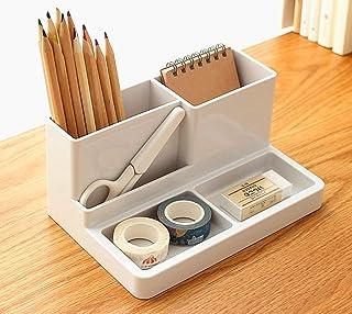 Magic House マジック ハウス 収納ケース ペン立て 名刺入れ 卓上スタンド 小物収納ボックス ブラスチック製 文房具の整理整頓におすすめ ホワイト