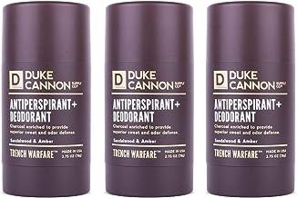 Duke Cannon Supply Co. Antiperspirant + Deodorant for Men, 2.75 Oz - Sandalwood & Amber (Pack of 3)