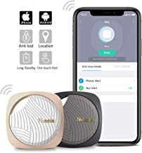 Nutale Focus Smart Key Finder Bluetooth WiFi Tracker Locator Wallet Phone Key Anti-Lost Bidirectional Alarm Reminder - 2 Pack (1 x Black,1 x Gold)
