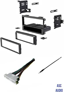 ASC Car Stereo Dash Kit, Wire Harness, and Antenna Adapter to Install a Single Din Aftermarket Radio for some 00-06 Buick LeSabre, 01-03 Oldsmobile Aurora, 00-05 Pontiac Bonneville - No Premium Amp