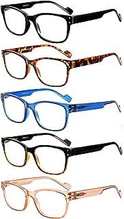 Sponsored Ad - VIDEBLA 5-Pack Reading Glasses Women Men Blue Light Blocking, Anti Eye Strain/Glare/UV Filter Computer Readers