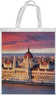 كيس تسوق، بتصميم لوحة فنية - باريس ، مقاس وسط