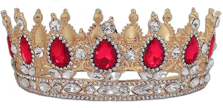 Crowns and Tiaras for Women trust At the price Queen Round Class Crown Retro Golden