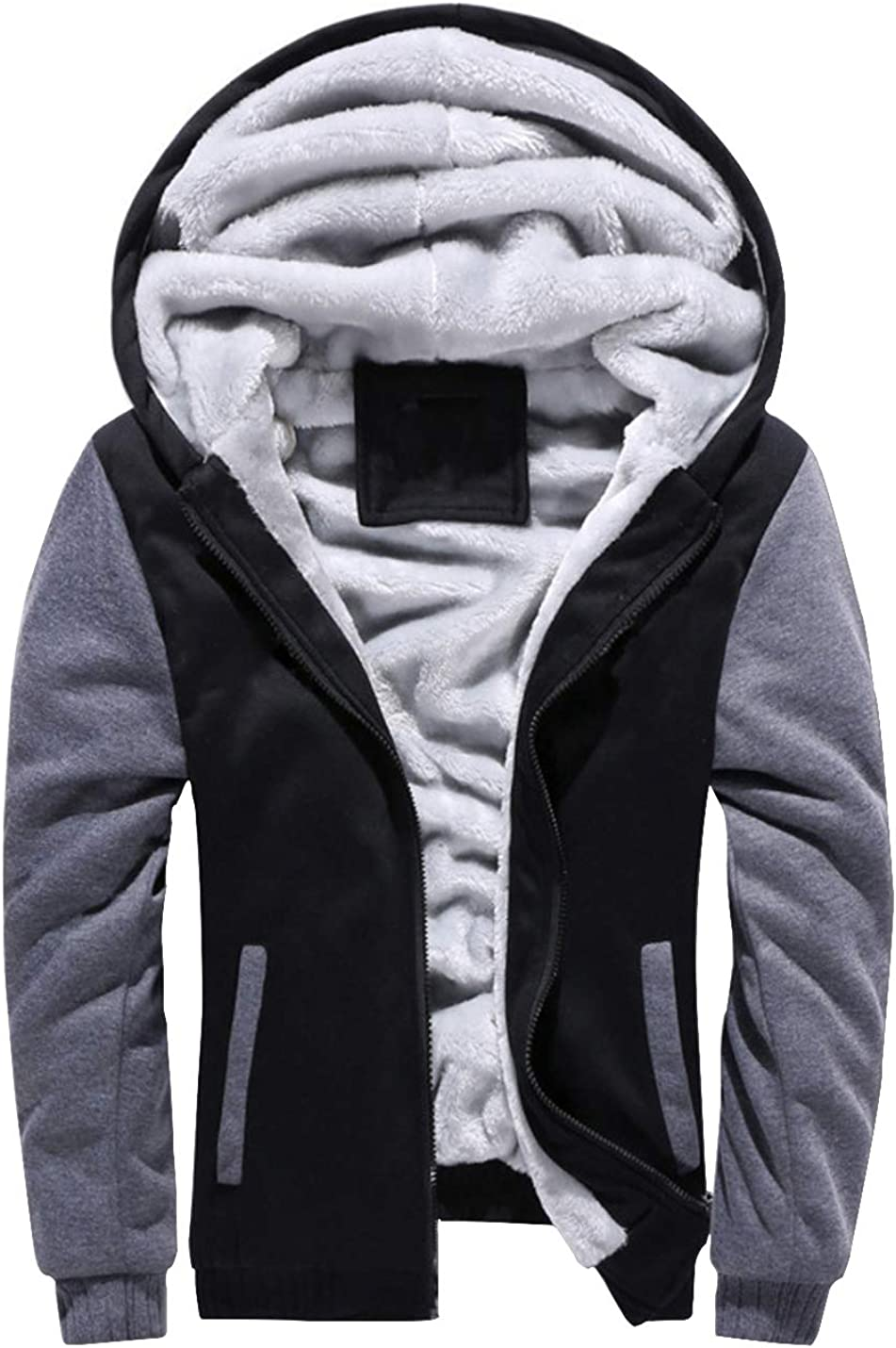 Hongsui Men's Winter Plus Velvet Padded Zipper Free shipping anywhere in the nation New product! New type Warm Hooded Sweat
