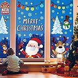 YQHbe Navidad Copos Nieve Stickers Decoration Noel Invierno Decoración Pegatinas vitres-amovibles statiques atmósfera romántico PVC de Chrismas Adhesivos Ventana