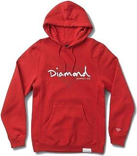 Diamond Supply Co Brilliant Script Hoodie Red