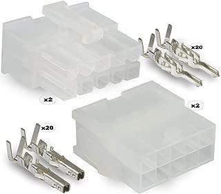 Molex , 10 Circuit Connector -2 Complete Set- Wire Conn. with Pins - Molex Mini-Fit Jr ™