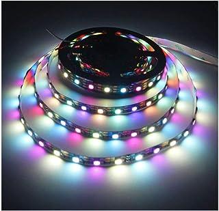 Visdoll 16.4Ft (5M) SK6812 IC (Upgraded of WS2812B) 300 Pixels 5050 RGB+White Individually Addressable LED Strip Light 60Leds/M DC 5V RGBW Ribbon Light Non-waterproof