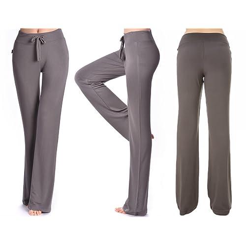8-24 Women Baggy Long Pants Elastic Waist Drop Crotch Casual Trousers Oversized
