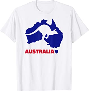 Australia map kangaroo T-Shirt