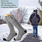 Beheizte Socken Herren Damen,7.4V 2200MAH Elektrische Wiederaufladbarem Batterie Socken,Wärmende Winter-Baumwollsocken Fußwärmer für Skifahren Jagen Angeln Reiten Radfahren Camping Motorradfahren - 2