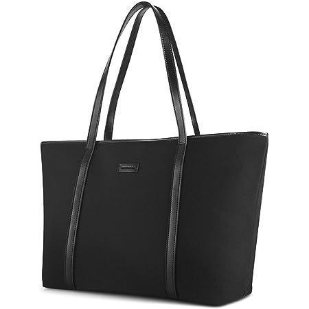 CHICECO X-Groß Nylon Arbeit Shopper Tasche Handtasche Damen - Schwarz