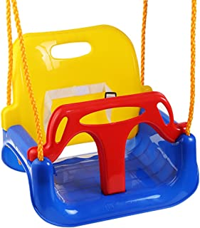 3-in-1 Baby Swing Seat Toy, High Backed Toddler Swing Detachable Outdoor Toddlers Children Hanging Seat