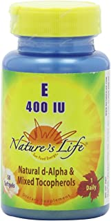 Nature's Life Vitamin E, 400 IU   50 ct
