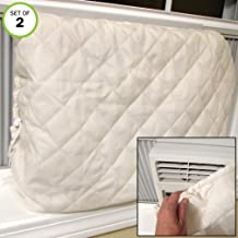 Evelots Window Air Conditioner Cover-Indoor-Quilted-Heat in-Cold Air Out-Set/2