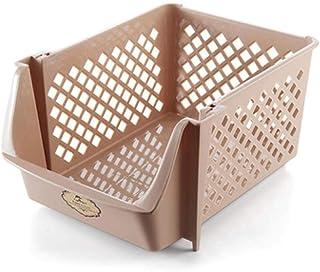 Warmwin Panier de Rangement empilable à Une Couche en Plastique boîte de conteneur de Jouets boîte de collations de Cuisin...