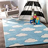 Product Image of the nuLOOM Sachiko Cloudy Kids Rug, 3' 6' x 5' 6', Blue