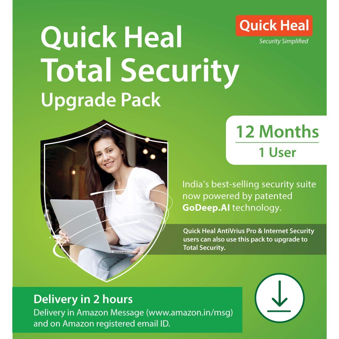 Quick Heal Total Security Renewal Upgrade Silver Pack - 1 User, 1 Year (Email Delivery in 2 hours- No CD)-Existing Quick Heal SINGLE USER... 1