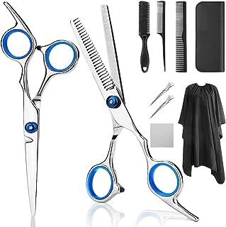 Professional Hair Cutting Scissors, YBLNTEK 9 PCS Barber Thinning Scissors Hairdressing Shears Stainless Steel Hair Cuttin...