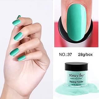 28g/Box Mint Green Color Dipping Powder No Lamp Cure Nails Dip Powder Like Gel Nail Natural Dry For Nail Salon£¬No.37
