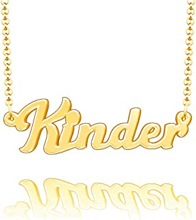 EV.YI Jewels Kinder Custom Personalized Name Necklace Last Name Plate Pendant Gift for Family Mom Dad Friend Lover