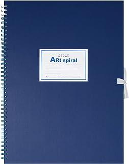 マルマン スケッチブック アートスパイラル F4 厚口画用紙 24枚 ブルー S314-02